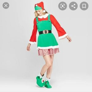 Womens elf Christmas costume